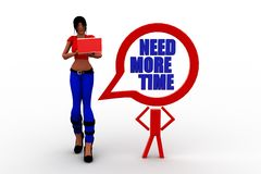 3d Women with need more time concept Royalty Free Stock Photography