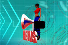 3d women news illustration Stock Photo