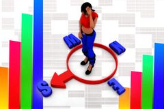 3d women news illustration Royalty Free Stock Image