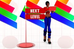 3d Women Next Level Illustration Royalty Free Stock Image