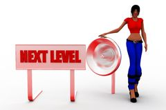 3d women  next level illustration Royalty Free Stock Photography