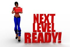 3d Women Next Level Ready Royalty Free Stock Image