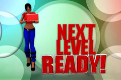 3d Women Next Level Ready Illustration Royalty Free Stock Photo