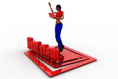 3d Women Next step illustration Royalty Free Stock Photo