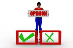 3d women opinion concept Royalty Free Stock Image