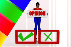 3d women opinion illustration Royalty Free Stock Image