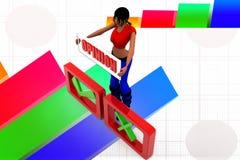 3d women opinion illustration Stock Photos