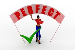 3d women with perfect banner Royalty Free Stock Photos