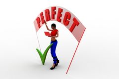 3d women with perfect banner Royalty Free Stock Photography