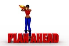 3d women plan a head Stock Image