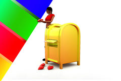 3d women post office love illustration Royalty Free Stock Images
