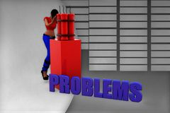 3d women problems illustration Royalty Free Stock Images