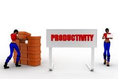 3d women productivity Stock Photos