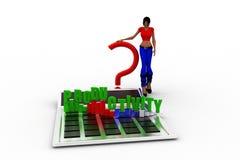 3d women productivity concept Stock Photos