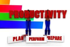 3d women  productivity illustration Stock Image