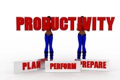 3d women  productivity Stock Image