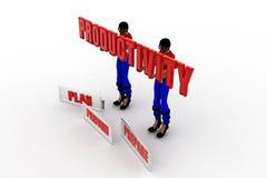 3d women  productivity Stock Images