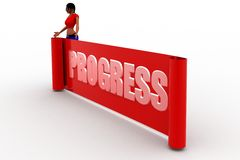 3D women progress concept Royalty Free Stock Images
