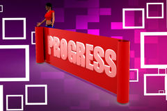 3d Women  Progress Illustration Stock Image