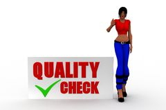 3d women quality check Stock Image