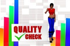3d women quality check illustration Stock Image