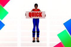 3d women quick illustration Stock Photo
