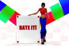 3d women rate it illustration Stock Photo
