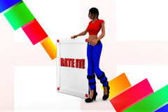 3d women rate it illustration Royalty Free Stock Photos