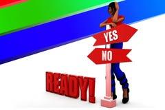 3d women ready illustration Stock Images