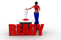 3d women ready Royalty Free Stock Photography