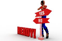 3d women ready Stock Images