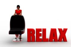3d women relax concept Royalty Free Stock Photos