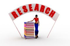 3d women research illustration Stock Photography