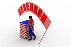 3d women research illustration Royalty Free Stock Images