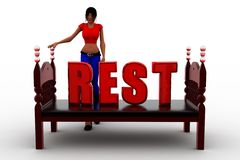 3d Women Rest Royalty Free Stock Images