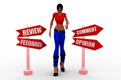3d women Review feedback concept Stock Photo