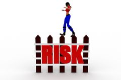 3d women risk concept Royalty Free Stock Photos