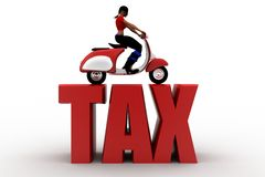 3d women scooter tax Stock Images