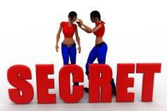 3d Women secret concept Stock Photography