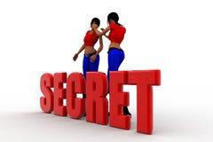 3d Women secret concept Stock Image