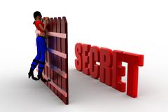 3d Women secret concept Royalty Free Stock Images