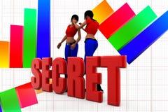3d women secret illustration Stock Image