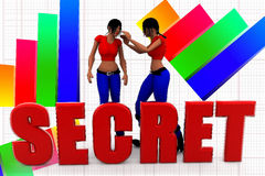 3d women secret illustration Stock Photos