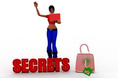 3d  women  secrets Royalty Free Stock Photography
