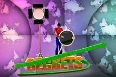 3d  women  secrets illustration Royalty Free Stock Photography