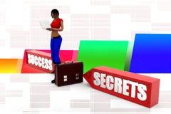 3d Women Secrets Success Royalty Free Stock Photos