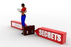 3d Women Secrets Success Stock Photo