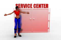 3d women service center Royalty Free Stock Image