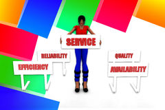 3d women service illustration Stock Image