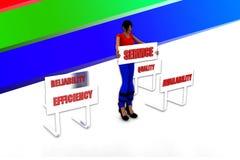 3d women service illustration Royalty Free Stock Photography